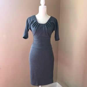 ❤️Banana Republic Grey Black Sheath Mini Dress 0❤️